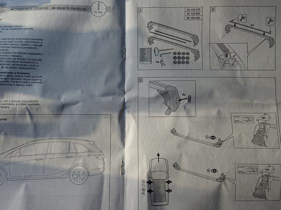 Dachträger Original Montageanleitung Seite 1