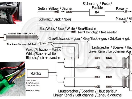das Hochpegelsignal der Heckkanäle lasst sich an jedem Punkt der Lautsprecherkabel abgreifen. Am einfachsten ist es natürlich direkt an den hinteren Lautsprechern.